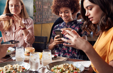 Food In Restaurant To Post On Social Media